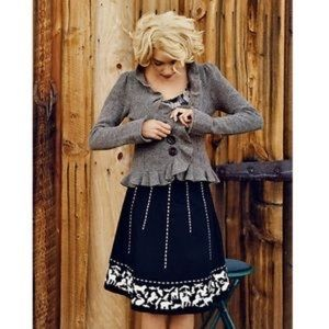 Anthropologie Lithe Animal Stitch Skirt